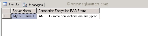 SQL Encryption RAG Status